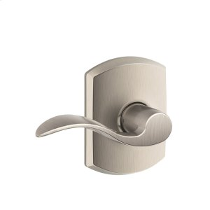 Accent Lever with Greenwich trim Hall & Closet Lock - Satin Nickel Product Image