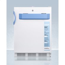 Built-in Undercounter ADA Compliant Auto Defrost Medical/scientific All-refrigerator With Front Control Panel Equipped With A Digital Thermostat and Nist Calibrated Thermometer/alarm; Includes Front Lock, Hospital Grade Cord, and Internal Fan