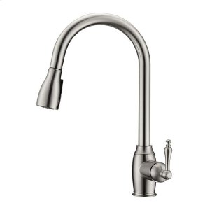 Bistro Single Handle Kitchen Faucet with Single Handle 1 - Brushed Nickel Product Image