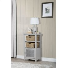 Tuscan Retreat® Basket Stand With Metal Front and Two Baskets - Taupe