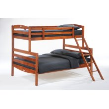 Sesame Twin Full Bunk in Cherry Finish