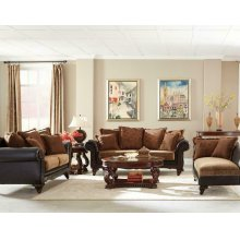 Garroway Traditional Brown Three-piece Living Room Set