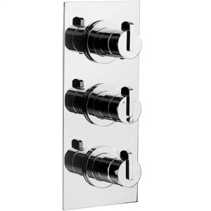 Satin Nickel (us15) Trim set for V132-AIS thermostatic valve - 2 way diverter with volume control for 3rd outlet