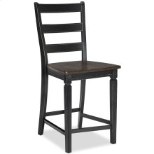 Glennwood Counter Stool  Black & Charcoal