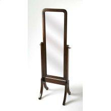 Complete your master suite or vanity ensemble with this cheval mirror. This classic cheval mirror has simple lines and graceful feet for a style that would blend in with modern or traditional bedrooms alike. Features include a full length tilting mirror,