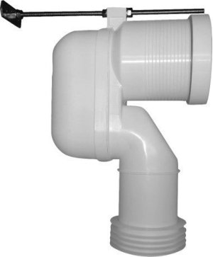 Vario Connecting Bend, White Product Image
