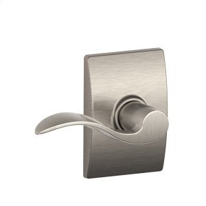 Accent Lever with Century trim Hall & Closet Lock - Satin Nickel Product Image