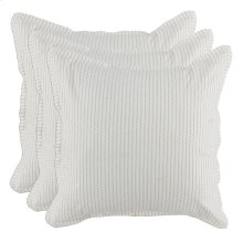 Karina Ivory Gray 3Pc Euro Sham Set