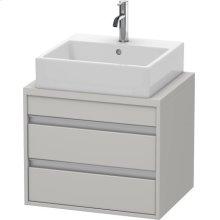 Ketho Vanity Unit For Console Compact, Concrete Gray Matte (decor)