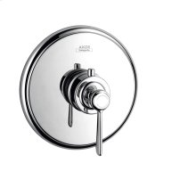 Brushed Gold Optic Thermostat for concealed installation with lever handle