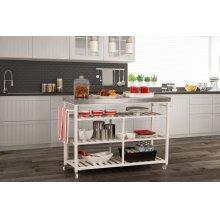Kennon Kitchen Cart - Stainless Steel
