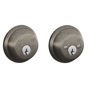 Double Cylinder Deadbolt - Distressed Nickel Product Image