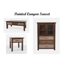"Painted Canyon Sunset 36"" Display Chest"
