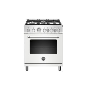 30 inch Dual Fuel, 5 Burners, Electric Oven Matt White Product Image