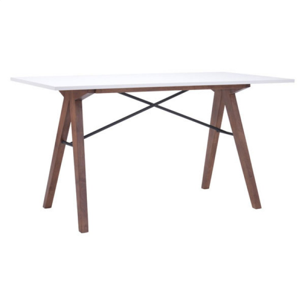 Saints Desk Walnut & White