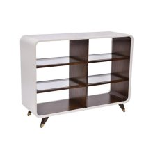 Canvas Legged Open Bookcaseivory (cv935408100, C408935)