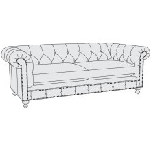 London Club Loveseat in Mocha (751)