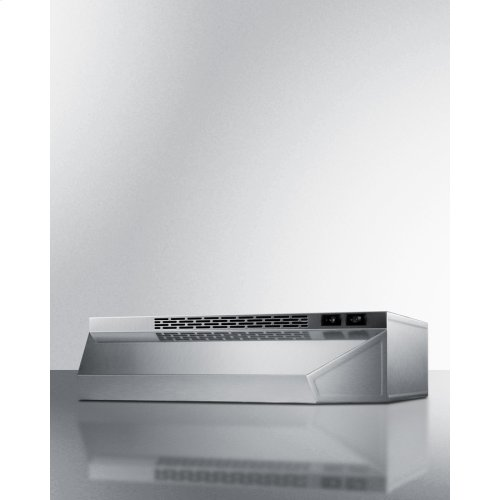 ***DISPLAY MODEL CLOSEOUT*** 20 Inch Wide Convertible Range Hood for Ducted or Ductless Use In Stainless Steel Finish