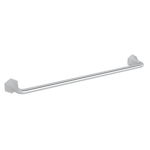 "Polished Chrome Bellia Wall Mount 24"" Single Towel Bar"
