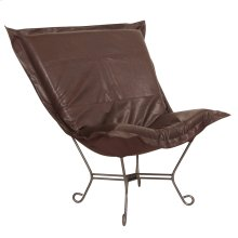 Scroll Puff Chair Avanti Pecan Titanium Frame
