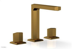 DIAMA Widespread Faucet - Blade Handle High Spout 184-01 - French Brass Product Image