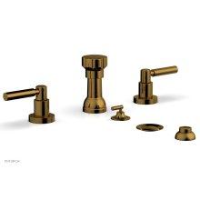 BASIC Four Hole Bidet Set - Lever Handles D4130 - French Brass