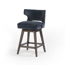 Task Swivel Counter Stool-modern Velvet