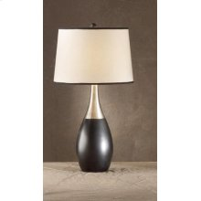 Bowling Pin Black/Silver Lamp