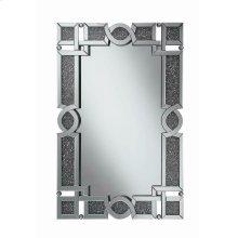 Ornate Silver Wall Mirror