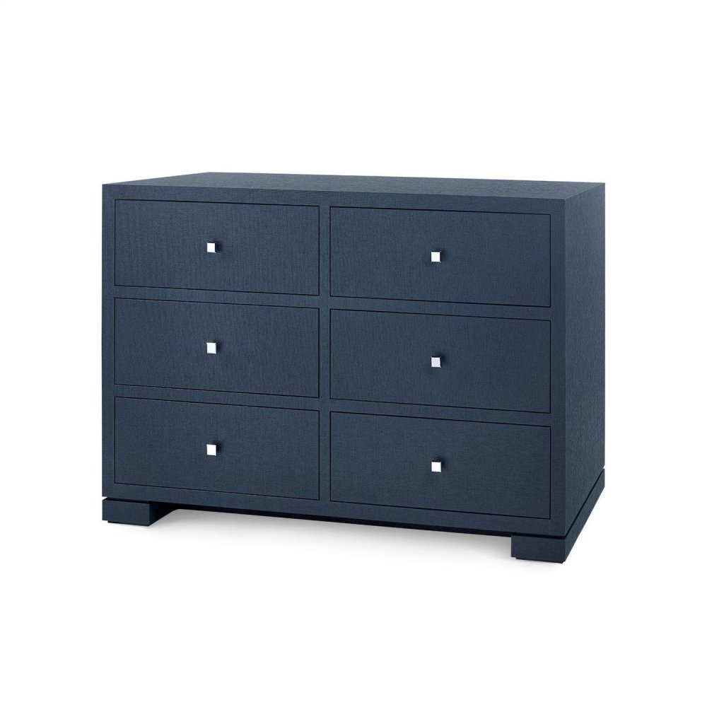Frances Extra Large 6-Drawer, Navy Blue