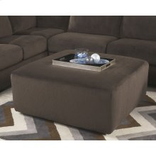 Signature Design by Ashley Jessa Place Oversized Ottoman in Chocolate Fabric