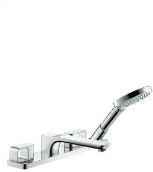 Chrome 4-hole rim mounted bath mixer Product Image