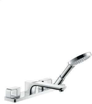Chrome 4-hole rim mounted bath mixer Product Image