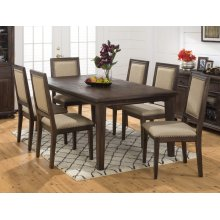 Geneva Hills Rectangle Dining Table With Four Upholstered Chairs