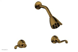 REVERE & SAVANNAH Two Handle Shower Set D3102 - French Brass Product Image