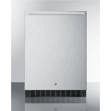 Outdoor All-refrigerator for Built-in Use, With Lock, Digital Thermostat, Horizontal Handle, and Stainless Steel Wrapped Exterior