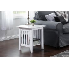 Mission End Table White