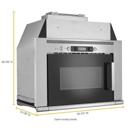 0.8 cu. ft. Space-Saving Microwave Hood Combination