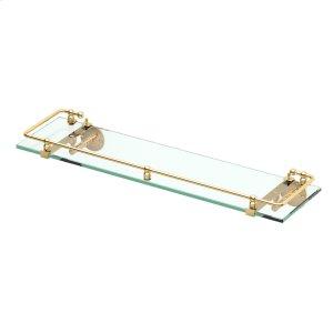 Premier Railing Shelf #1 in Polished Brass Product Image