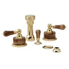 REGENT Four Hole Bidet Set K4271 - Polished Brass