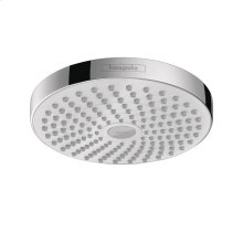 White/chrome Showerhead 180 2-Jet, 1.8 GPM