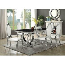 Antoine Hollywood Glam Silver Dining Table