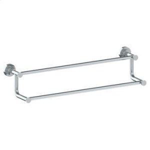 """Wall Mounted Double Towel Bar, 24"""" Product Image"""