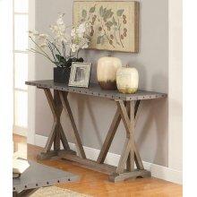 Industrial Driftwood Sofa Table