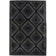 Kasbah-Crystal Black Hand Knotted Rugs