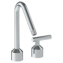Deck Mounted 2 Hole Kitchen Set With Angled Spout