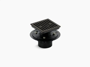Oil-rubbed Bronze Square Design Tile-in Shower Drain Product Image