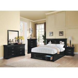 LP III BLACK CK BED W/STORAGE