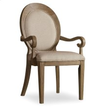 Dining Room Corsica Oval Back Arm Chair