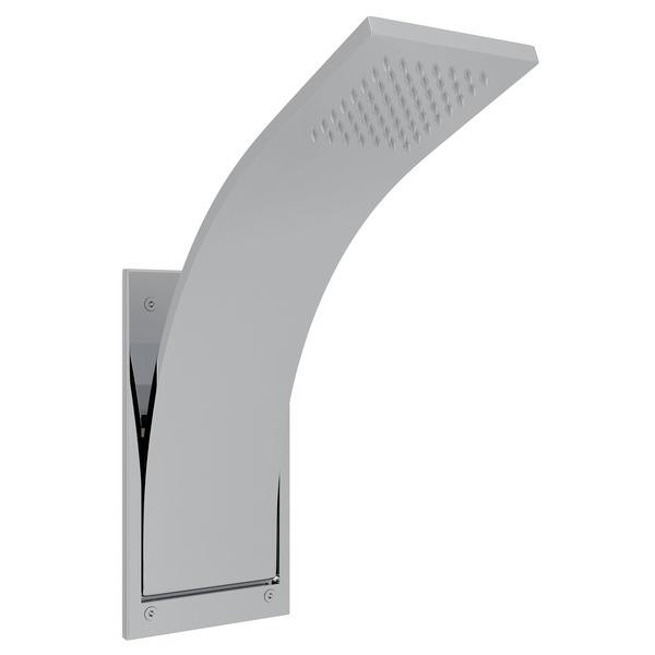 Polished Chrome Wave Integrated Shower Arm And Showerhead